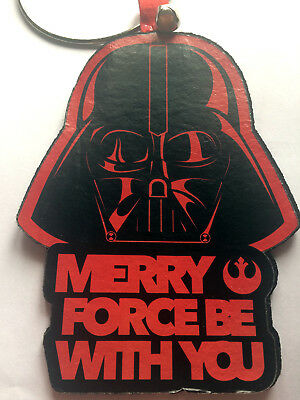 Star Wars Darth Vader Christmas Door Knob Hanger Merry Force Be With You Disney