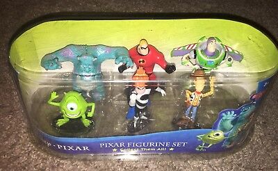 New Disney Pixar Figurine Set Movie Action Figure Set  Toy story HTF  RARE NIB