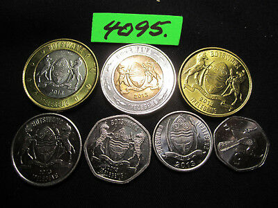 7 x  Assorted COINS  Mar 4095/1  BOTSWANA   35gms