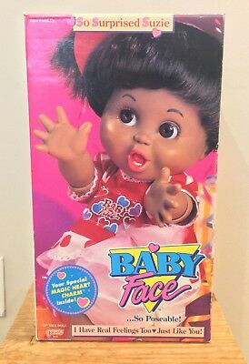 so surprised suzie baby face doll galoob AA 1990s vintage rare NRFB articulated*