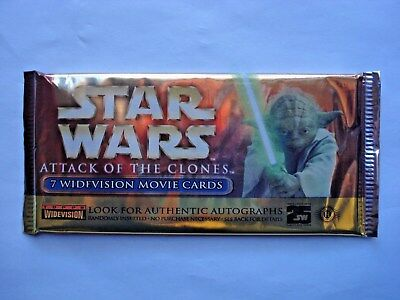 2002 Topps *star Wars Attack Of The Clones* Widevision Sealed Foil Pack