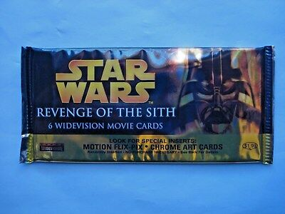 2005 Topps *star Wars Revenge Of The Sith* Widevision Sealed Foil Pack