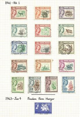 North Borneo 1961 QE2 Definitives complete used to $10 SG406