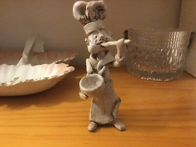 Bencini pottery chef figure, made in Italy