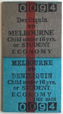 VR Ticket - DENILIQUIN to MELBOURNE - Child or Student Economy Return