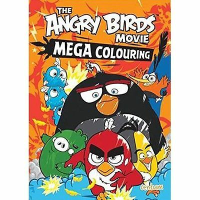 Angry Birds Movie MEGA COLOURING Book Rovio Red Bomb Hatchlings Mighty Eagle FUN