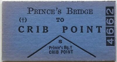 VR Ticket - PRINCE'S BRIDGE to CRIB POINT - One Class Single