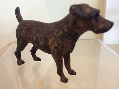 A charming Antique Austrian Cold Painted Bronze Dog Terrier Jack Russell