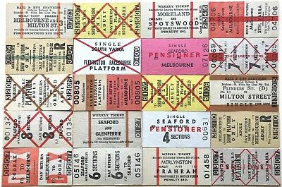 VR Tickets - 20 x mixed Melbourne Suburban tickets (set 23)