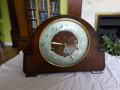 "Smiths Westminster Chime Mantle Clock ""the Guildford"" Fwo"