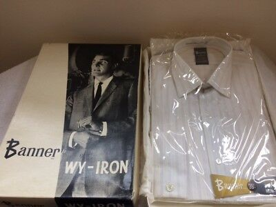 Vintage Retro Mens Banner Wy-Iron Long Sleeve Shirt With Box Ideal Shop Display