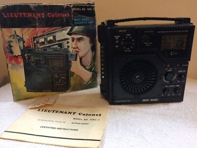 Vintage Lieutenant Colonel Multi Band  Radio Model 7505/7 Action Man Style 1974