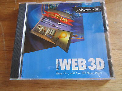 Pc-Cd Rom Web 3D Easy Fast And Fun 3D Home Pages  **** Must See *****