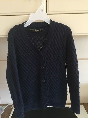 Rock Your Baby Navy Thick Cardigan  Sz 4
