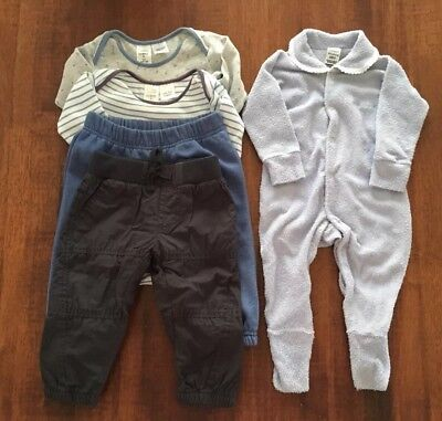 Boys Size 0 Clothing Bundle- Pants, Body Suits & Bonds Wondersuit