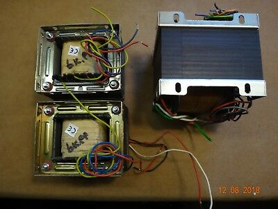 British HiFi Tube-amp PP 50Watt transformer set: PT + 2x OT tested ca. 9k Ohms