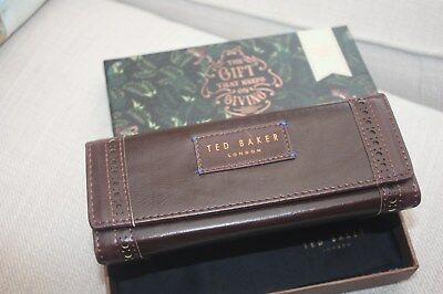 Ted Baker sunglasses glasses hard case brown brogue leather new box cloth new