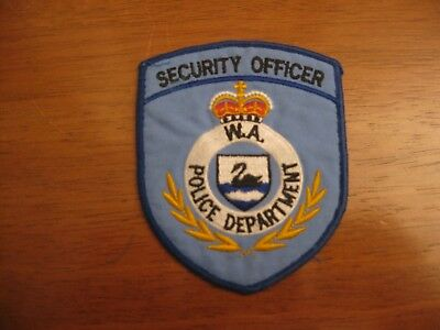 Obsolete Western Australia Police Security officer patch