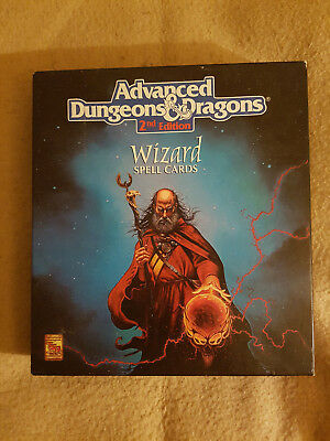 AD&D Advanced Dungeon&Dragon TSR -Boxset Wizzard Spell Cards - TSR 9356 - Rar