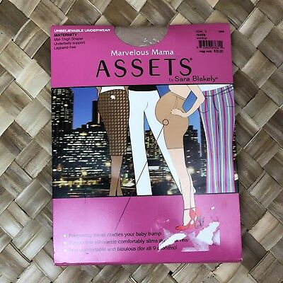 Marvelous Mama Assets Sara Blakely Sz 1 Nude Perfect Maternity Pantyhose