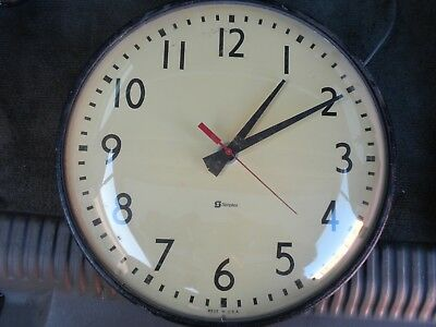 "Vintage 13"" Simplex School/Institution Clock Free Shipping"