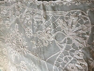 Beautiful Vintage Cotton Tulle Tablecloth