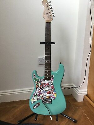 Wilkinson? Left hand Customised Electric Guitar, Case and  Stand, Good Condition