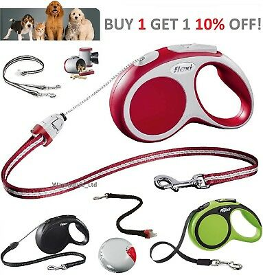 Dog Lead Retractable Flexi Vario Dog Extending Lead Cord Tape Soft Grip Handle