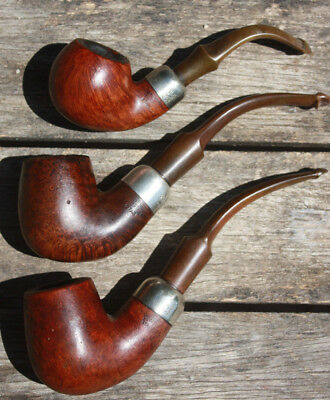 Lot de 3 pipes Peterson's - Estate - Sterling silver