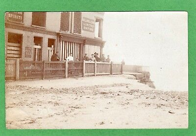 Cliff Hotel Bullard & Sons Coastal Erosion 1906 RP pc used Lowestoft  Ref K96