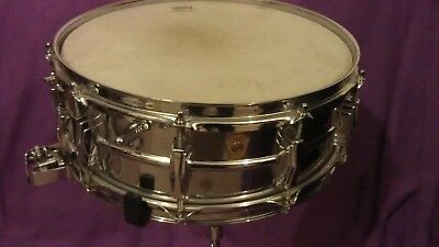 VERY VERY RARE! LUDWIG SUPER SENSITIVE 410 BRASS SHELL EARLY 60s ORIGINAL VGC !!