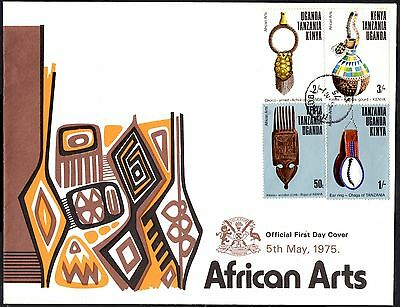 (Ref-11136) East Africa K.U.T.1975 African Arts  SG.165/168 First Day Cover