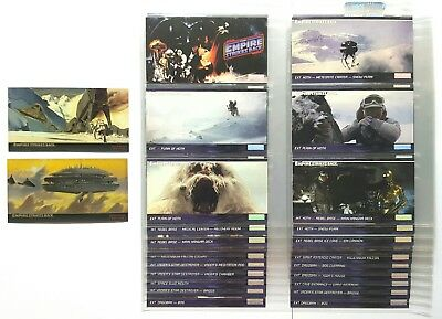 Complete Empire Strikes Back Widevision Trading Cards w Chromium Foil Cards