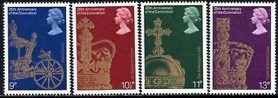 (Ref-12688) Great Britain 1978 Coronation 25th Anniversary SG.1059/1062 Mint MNH