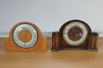 Vintage Art Deco 'Smiths Enfield' Mantel Clocks - Good Condition