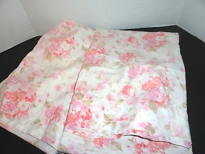 Vintage Cannon Royal Family  pillowcases cotton percale pink floral