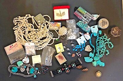 LOT OF OLD,VINTAGE,USED COSTUME JEWELRY Etc....