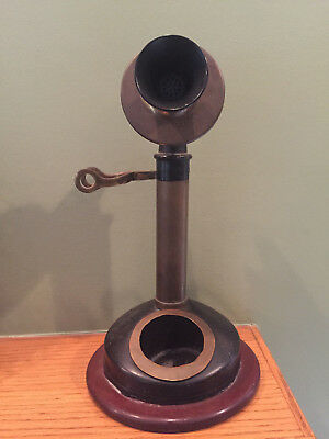 Vintage Kellogg Candle Stick Phone For Parts, Repair or Display