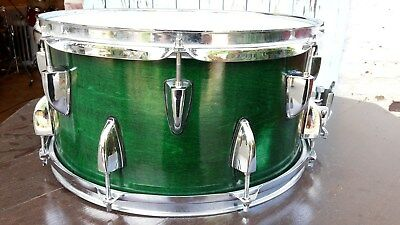 "Custom- Snare, 14"" x 7"", Ahornkessel, tiefer Poweresound, neue Felle"