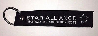 STAR ALLIANCE Remove Before Flight keychain baggage tag quality embroidered