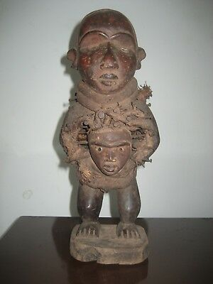 Sehr alte Afrikanische holz Figur, very old African wood statue