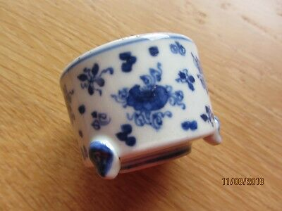 Antique Chinese 3 footed miniature brush pot - character mark - superb