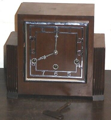 Vintage Art Deco Perivale Westminster Chime mantel clock, for spares or repairs