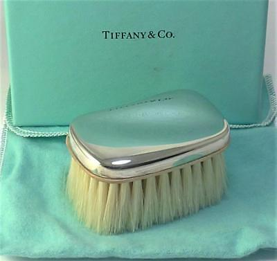 Vintage hallmarked Sterling Silver backed Wave Baby Brush – 2013 by Tiffany & Co