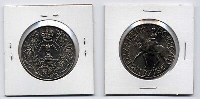 Uk Great Britain 1977 Silver Jubilee Of Reign 25 New Pence