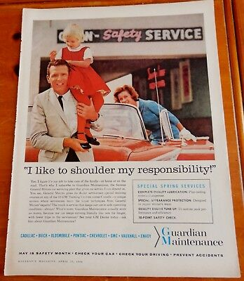 1959 Buick Convertible For Guardian Maintenance Gm Canadian Ad - Vintage 50S