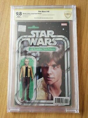 Star Wars Comic Issue 40 Action Figure Variant CBCS Certified Signed Copy...
