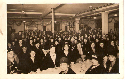 Postcard Suffragette meeting real photo Rare card..