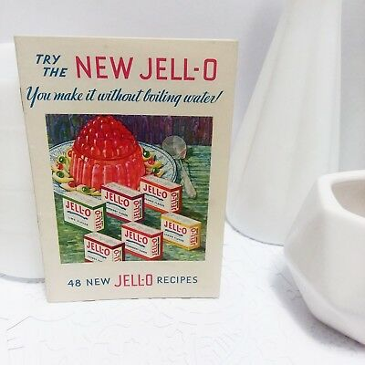 Vintage 1930's Jello Recipe Booklet, small pamphlet size.