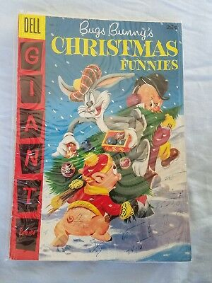 1956 Bugs Bunny's Christmas Funnies #7 Dec, Dell GIANT